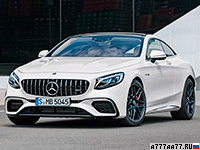 2018 Mercedes-AMG S 63 Coupe 4Matic+ (C217) = 300 км/ч. 612 л.с. 3.5 сек.