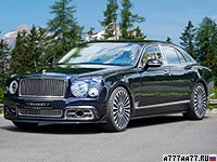 2017 Bentley Mulsanne Mansory = 306 км/ч. 585 л.с. 5 сек.