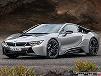 2018 BMW i8 Coupe = 250 км/ч. 374 л.с. 4.4 сек.