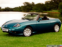 1995 Fiat Barchetta = 200 км/ч. 131 л.с. 8.9 сек.