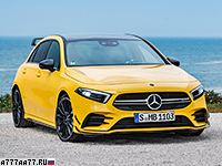 2019 Mercedes-AMG A 35 4Matic (W177) = 250 км/ч. 306 л.с. 4.7 сек.