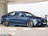 2019 Mercedes-AMG A 35 Sedan 4Matic (V177) = 250 км/ч. 306 л.с. 4.8 сек.