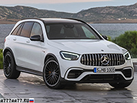 2019 Mercedes-AMG GLC 63 S 4Matic+ (X253) = 280 км/ч. 510 л.с. 3.8 сек.