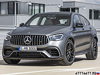 2019 Mercedes-AMG GLC 63 S Coupe 4Matic+ (C253) = 280 км/ч. 510 л.с. 3.8 сек.