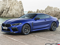 2020 BMW M8 Competition Coupe (F92) = 305 км/ч. 625 л.с. 3.2 сек.