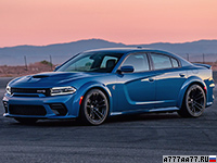 2020 Dodge Charger SRT Hellcat Widebody (LD) = 315 км/ч. 717 л.с. 3.6 сек.