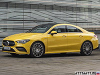 2019 Mercedes-AMG CLA 35 4Matic (C118) = 250 км/ч. 306 л.с. 4.9 сек.