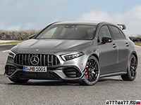 2020 Mercedes-AMG A 45 S 4Matic+ (W177) = 270 км/ч. 421 л.с. 3.9 сек.