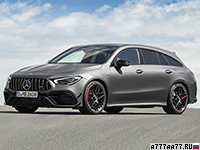 2020 Mercedes-AMG CLA 45 S Shooting Brake 4Matic+ (X118) = 270 км/ч. 421 л.с. 4 сек.