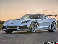 2019 Chevrolet Corvette ZR1 Hennessey HPE1200 Supercharged (C7) = 380 км/ч. 1216 л.с. 2.4 сек.