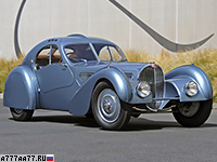 1937 Bugatti Type 57SC Atlantic = 208 км/ч. 213 л.с. 9.8 сек.