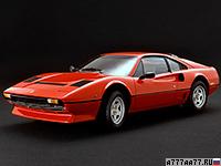 1982 Ferrari 208 GTB Turbo = 242 км/ч. 220 л.с. 6.8 сек.