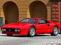 1984 Ferrari 288 GTO = 306 км/ч. 400 л.с. 4.8 сек.