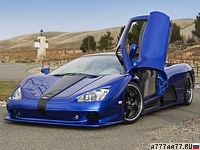 2006 SSC Ultimate Aero TT = 412 км/ч. 1183 л.с. 2.85 сек.