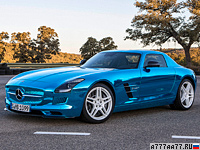 2013 Mercedes-Benz SLS AMG Electric Drive = 250 км/ч. 751 л.с. 3.9 сек.
