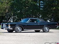 1970 Lincoln Continental Mark III = 209 км/ч. 370 л.с. 9 сек.