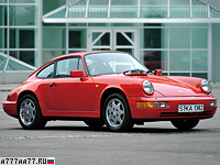 1990 Porsche 911 Carrera 2 Coupe (964) = 264 км/ч. 250 л.с. 5.7 сек.