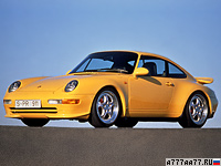 1995 Porsche 911 Carrera RS 3.8 Coupe (993) = 277 км/ч. 300 л.с. 5 сек.