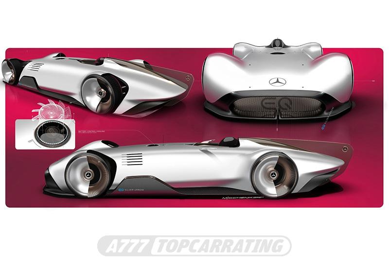 2018 Mercedes-Benz Vision EQ Silver Arrow Concept