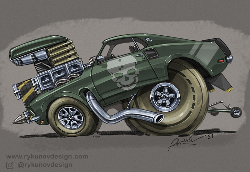 2020 Hot Rod Art by RykunovDesign