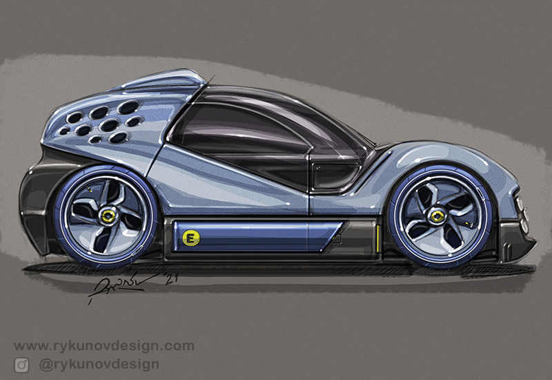 2021 Car Design Drawings by RykunovDesign