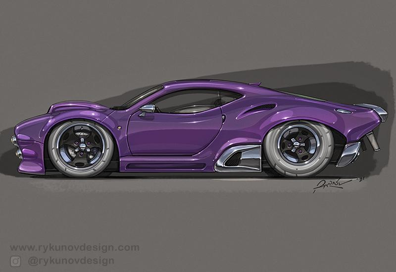 2021 Automotive Design Sketches by RykunovDesign