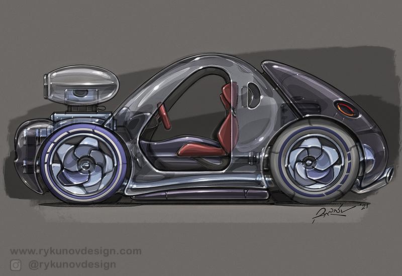 2021 Car Design Drawings by RykunovDesign